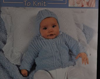 Sweet Layettes to Knit - 4 Styles - Leisure Arts