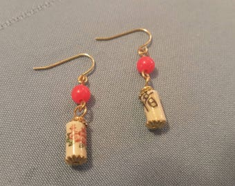 Chinese Flower Drop Earrings