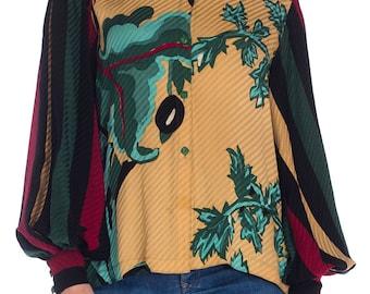 1980s Michael Vollbracht Silk Top Size: M