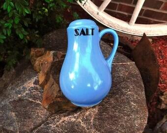 Vintage Hall China Blue Salt Range Shaker - 1950's - from DustyMillerAntiques