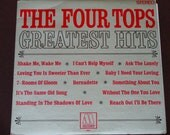 """The Four Tops Greatest Hits - """"Bernadette"""" - """"It's the Same Old Song"""" - 60's Soul - Motown Records 1967 - Vintage Vinyl LP Record Album"""