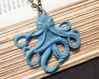 Verdigris Kraken Necklace