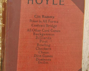 Vintage Fosters Complete Hoyle. Shabby Card game book, billiards, pool,dice,blowling backgammon, dominos checkers, chess,poker, gin rummy