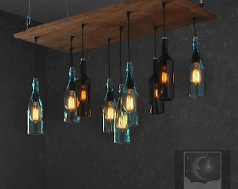 The Napa - Recycled bottle chandelier
