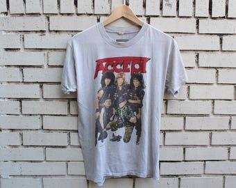 Vintage 1986 ACCEPT shirt Russian Roulette Tour Size L Large 1980s German heavy metal speed metal thrash