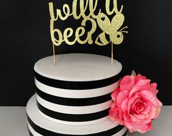 What Will It Bee Cake Topper Baby Shower Gender Reveal