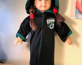 "Harry Potter Slytherin Robe For 18"" Doll"