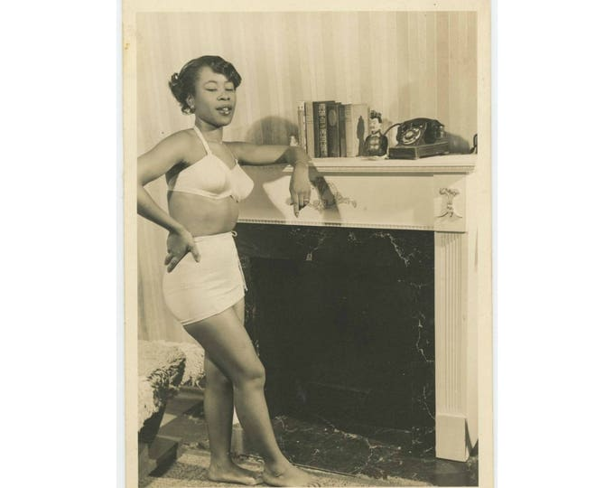 Vintage Snapshot Photo: Swimsuit, 1940s (79608)