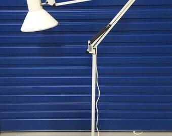 Vintage White Planet Floor Lamp