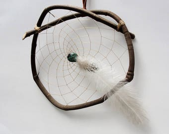 GRAPEVINE DREAM CATCHER Grapevine Dream Catcher with Turquoise and Emu Feather