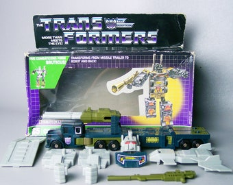 Vintage G1 Transformers Onslaught 100% Complete with Original Box