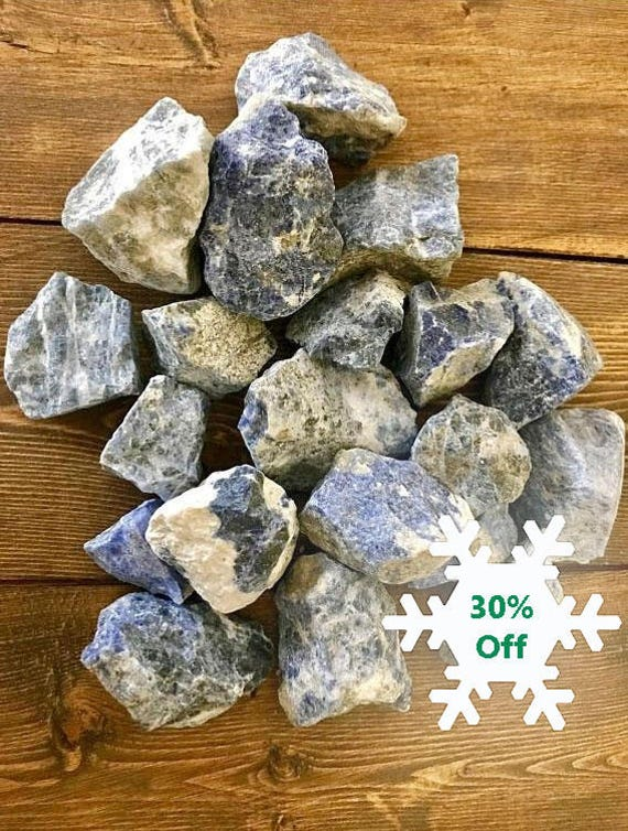 Raw Sodalite Stone of Peace Blue Stone Raw Natural Crystal Healing Metaphysical