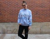 Vintage 1980s Kitsch Snowy Bunny Sweater