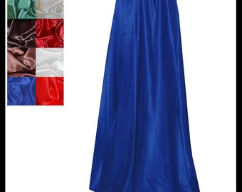 Royal Blue Shimmer Satin Cloak lined with Shimmer Satin. Ideal for LARP LRP Medieval Cosplay Costume. Made especially for you. NEW!