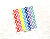 2 Dollar Tuesday Book Multicolor Icon Stickers, Study Schedule, Class Tracker, Homework Reminder
