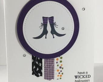 Halloween, Witch's Boots, Witch's Hat, Washi Tape, card, stampin up