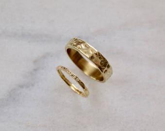 Mens Gold Wedding Ring Mens Rustic Ring Mens Wide Band Mens Gold Band Rustic Wedding Band