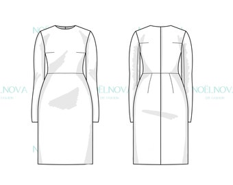 Dress with Tailored Sleeves Block PDF Sewing Pattern