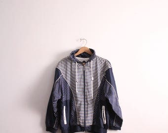 Dots and Stripes 90s Windbreaker Jacket