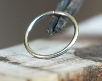 22 Gauge 316L Stainless Steel Thin Nose Ring, Endless Catchless Nose Ring Hoop, You Choose the Diameter - 6mm, 7mm, 8mm, 9mm