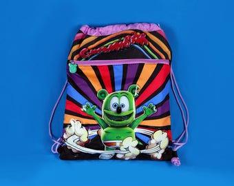 Gummibär The Gummy Bear Drawstring Backpack ~ Back To School ~ Colorful Bright Rainbow