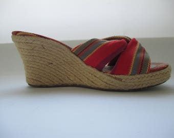 Awesome Stubbs & Wootton Espadrilles Sandals Wedges - Size 8