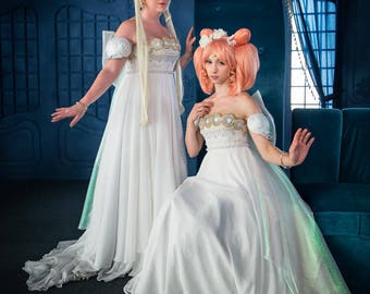 Sailor Moon Princess Serenity Gown Costume - Cosplay XS/S