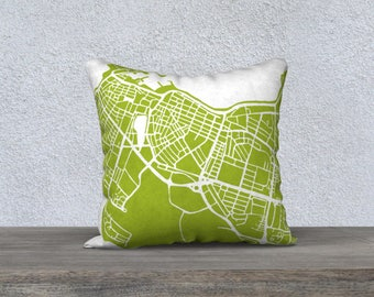 Reykjavik Iceland Map Pillow Cover
