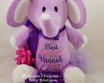 Personalized Stuffed Animal, Personalized Baby Gift with Name and Design from Felicia's Fancies Baby Boutique