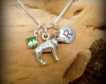 Sterling silver wildlife necklace, moose jewelry, birthstone necklace, personalized jewelry, wildlife necklace, game hunter