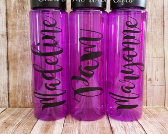 Personalized Water Bottles / Personalized Drinking Bottles / Sports Bottles / Personalized Drinkware / Name Water Bottles