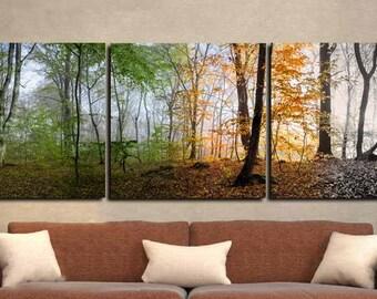 Seasons Art,4 Season Wall Art,Seasons Wall Art,Landscape Wall Art,Tree Seasons Art Print,Panoramic Trees,Panoramic Seasons,Four Seasons Art