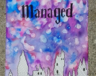 Harry Potter Watercolor Hogwarts Mischief Managed
