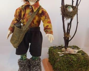 Art Doll-Norbert the Elf OOAK Cloth Doll