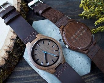 Wood Watch Engraved, Wooden Watch, Mens Wood Watch, Wood Watch, Mens Gift, Mens Watch, Wood Watches for Men, Engraved Mens Watch