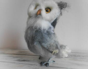 Owl Decoration, Collectible Sculpture, Realistic Animal Figurine, Needle  Felted Owl, Owl Gift