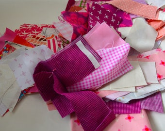 Pink Fabric Scrap Bundle