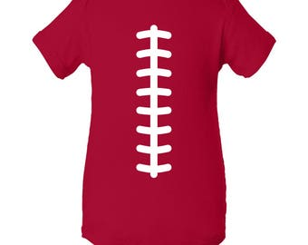 Football Team Colors Creeper - Red/White