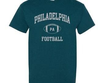 Philadelphia Classic Football Arch Basic Cotton T-Shirt