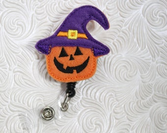 Halloween pumpkin   - nursing badge holder - paper clip - badge reel - name badge holder - planner clip - badge pull - definitely you