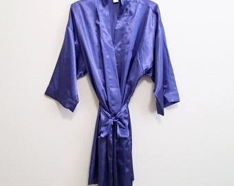 Christian Dior Robe - Short purple satin robe - One Size