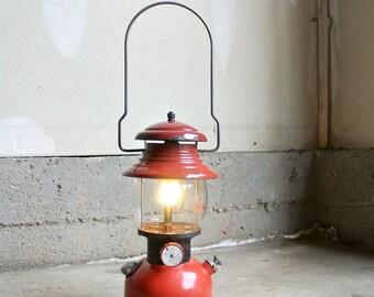 Awesome Vintage 1952 Coleman Lantern - Vintage Red Coleman Lantern - Vintage Camping Lantern - Coleman Single Mantle Lantern - Camping Gear