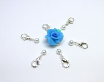 Flower Stitch Marker, Crochet Stitch Markers, Locking Stitch Markers, Removable Stitch Markers, Snagless Stitch Markers, Stitch Marker Set