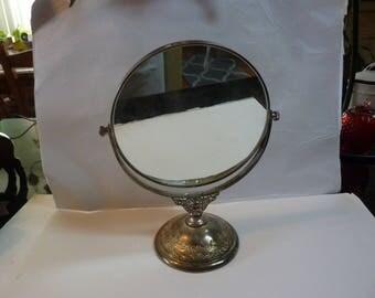 Vintage Make up Mirror/Vanity Silver