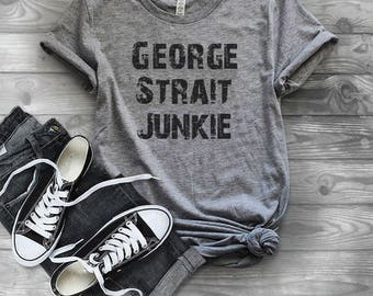 George Strait Shirt, County Music Shirt, County Concert, Ladies T-shirt, Ladies Tee, Concert Tee, Country Music, Western, Rodeo