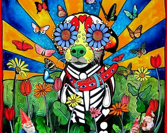 Chihuahua Giclee Print from Original Collage by Robin Arthur, aka RobiniArt