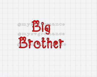 Big Brother - Cute Monster Font - SVG - Cutting File - Cricut - Cameo