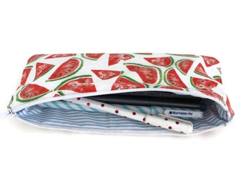Pencil case pattern watermelons - school supplies