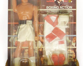 Vintage 70s Muhammad Ali The Champ Mego Boxing Action Figure Sealed in Box