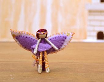 Waldorf Fairy Doll - waldorf fairies, felt fairy doll, felt fairies, miniature fairy doll, miniature fairies, small fairy doll, pixie doll